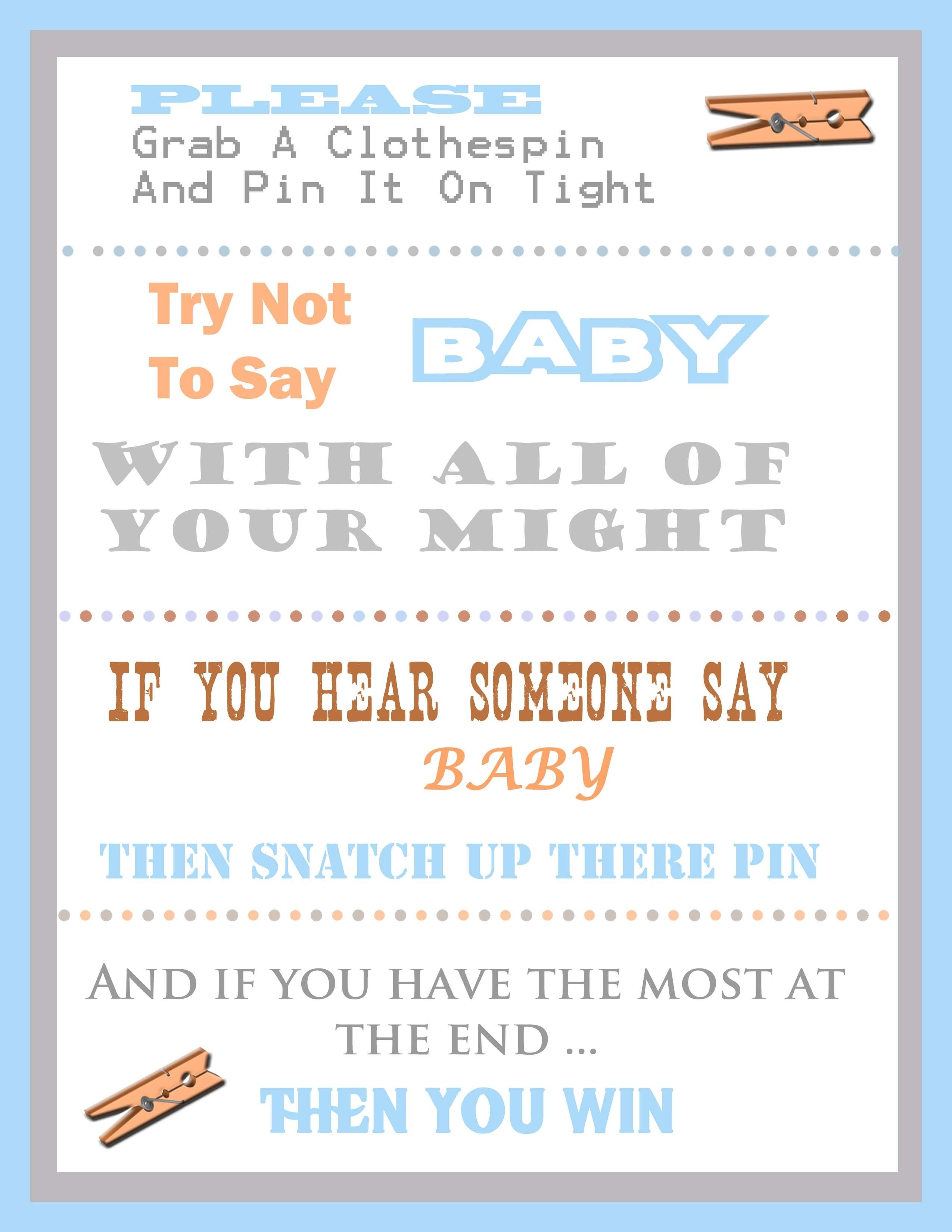 free baby shower games printables - wedding