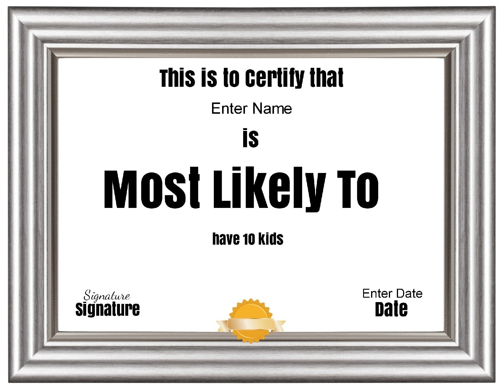 10 Attractive Most Likely To Awards Ideas free customizable most likely to awards 1