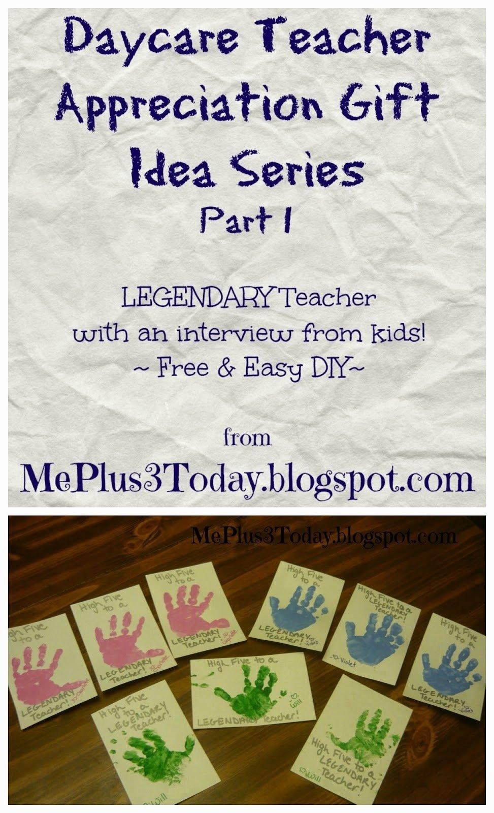 10 Pretty Daycare Teacher Appreciation Gift Ideas free easy daycare teacher appreciation gift idea high five to a 2020