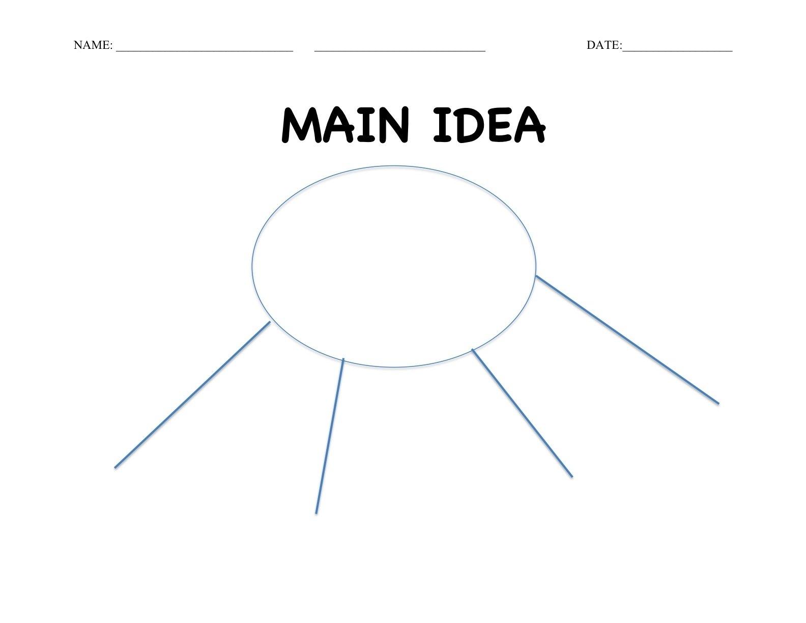 10 Best Graphic Organizer For Main Idea free first grade materials simple main idea graphic organizer 2020