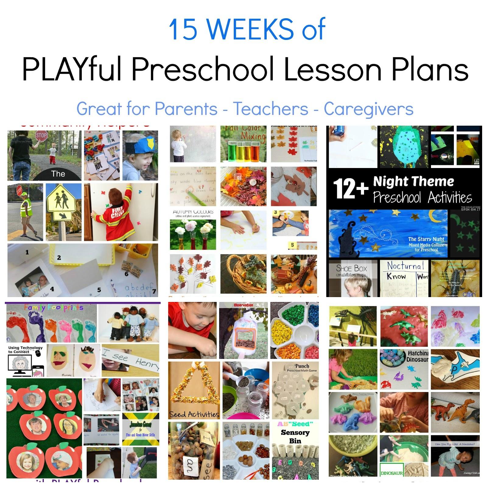 10 Attractive Thematic Unit Ideas For Preschool free preschool thematic lesson plans playfulpreschool the 2020