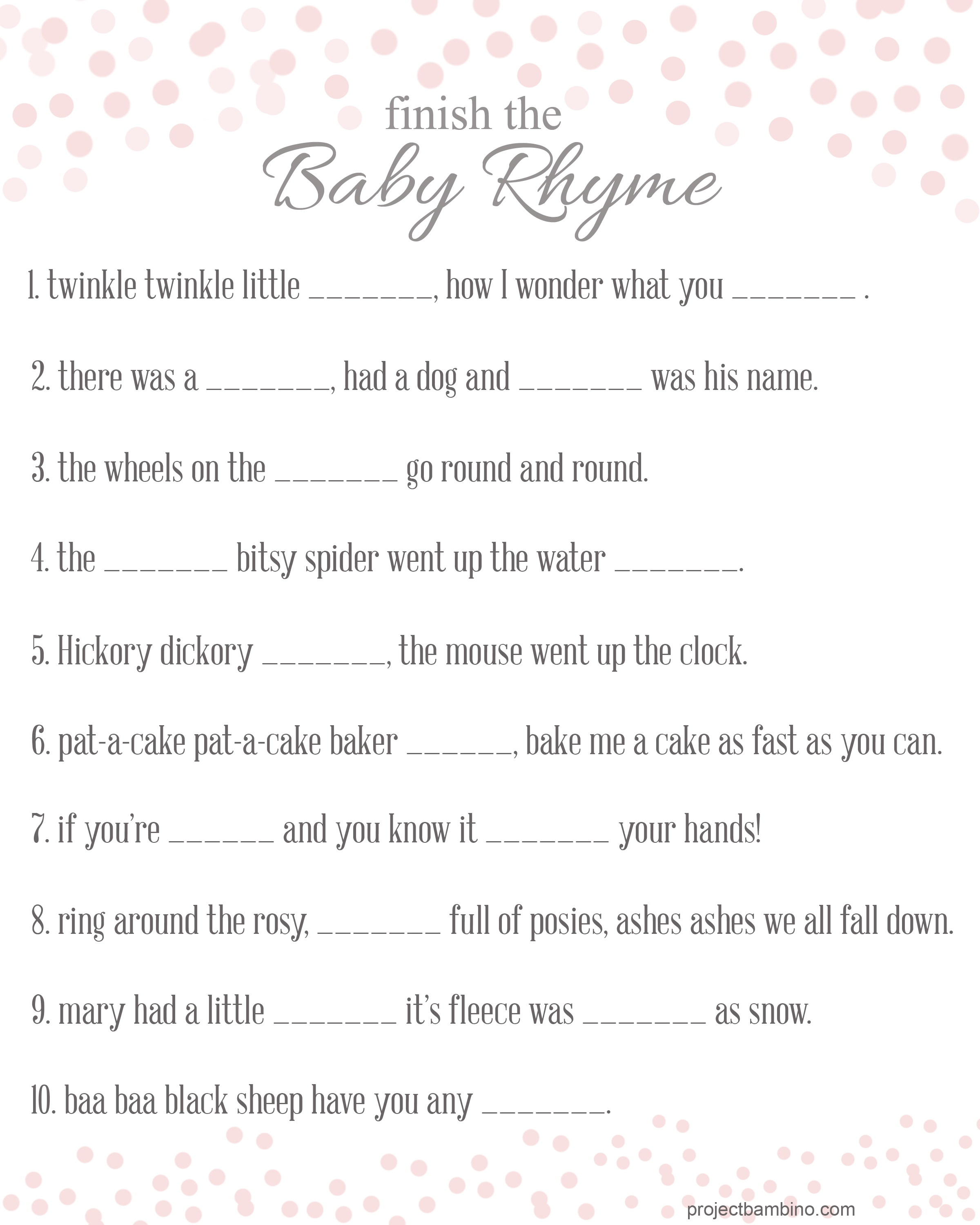 10 Stylish Free Baby Shower Games Ideas free printable baby shower games for girls wedding 2020