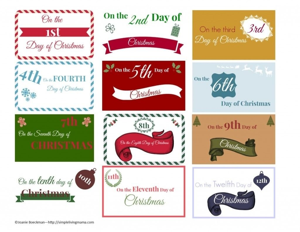 10 Attractive 12 Days Of Christmas Present Ideas free printable download 12 days of christmas gift tags free 1 2020