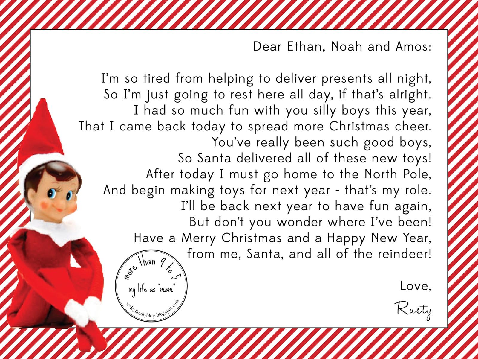 10 Stunning Letter From Elf On The Shelf Idea free printable elf on the shelf letter template example letterhead 2020