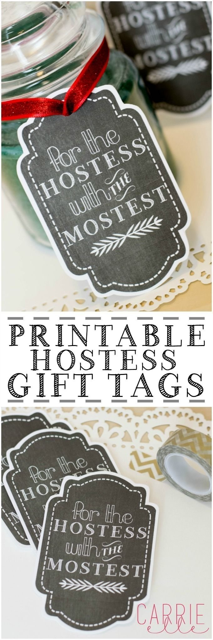 free printable gift tags: hostess gift tag | diy ideas | pinterest
