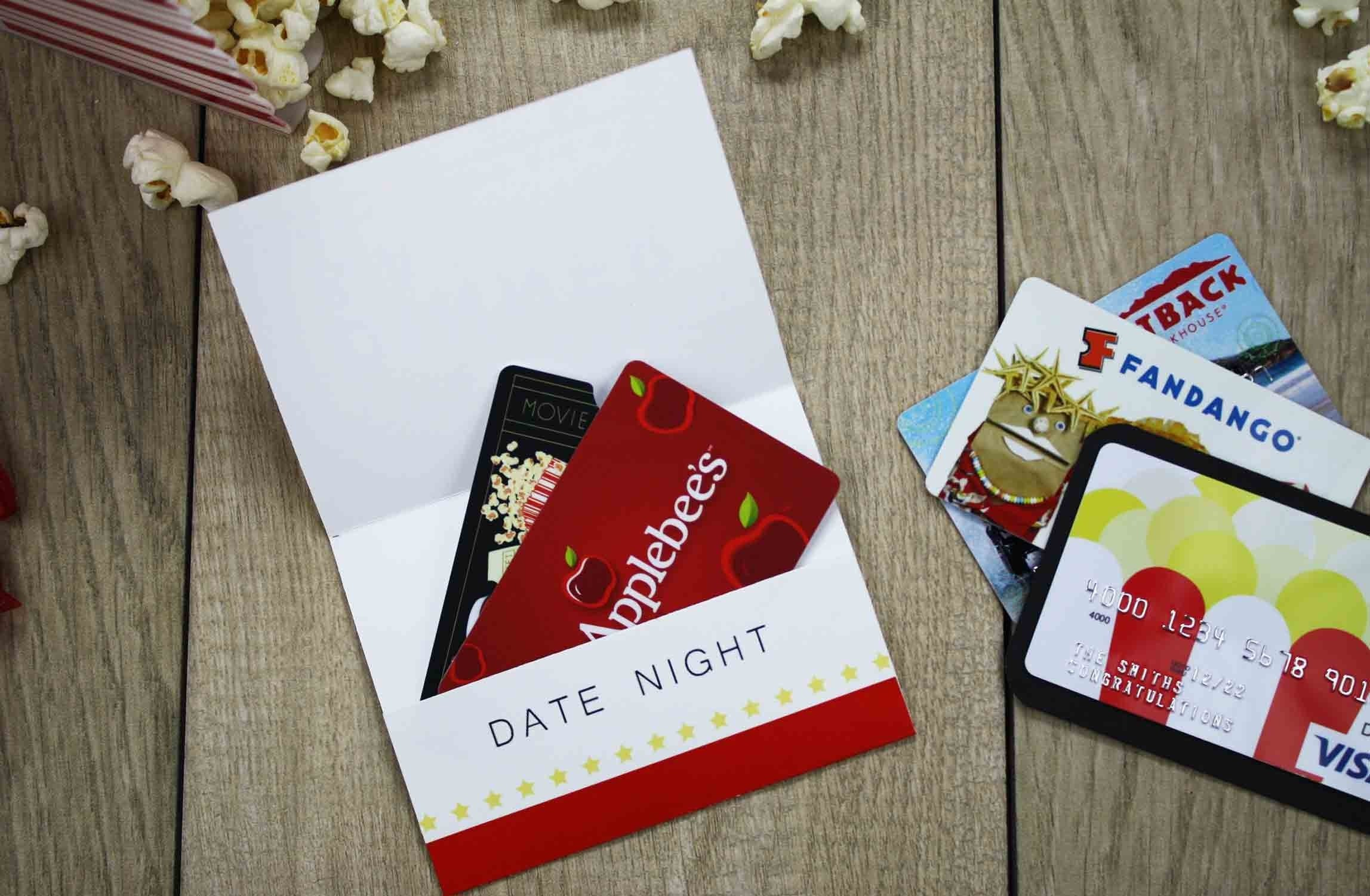 10 Stunning Ideas For Giving Gift Cards free printable give date night for a wedding gift gcg 2020