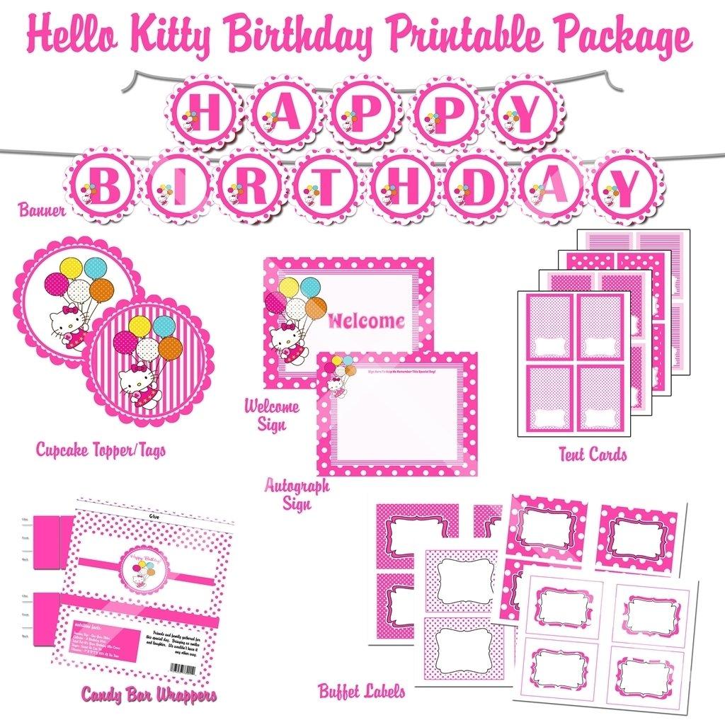 Hello kitty party invitations template invitation blank free 10 wonderful hello kitty birthday party ideas free free printable hello kitty 1st birthday invitations invitetown filmwisefo