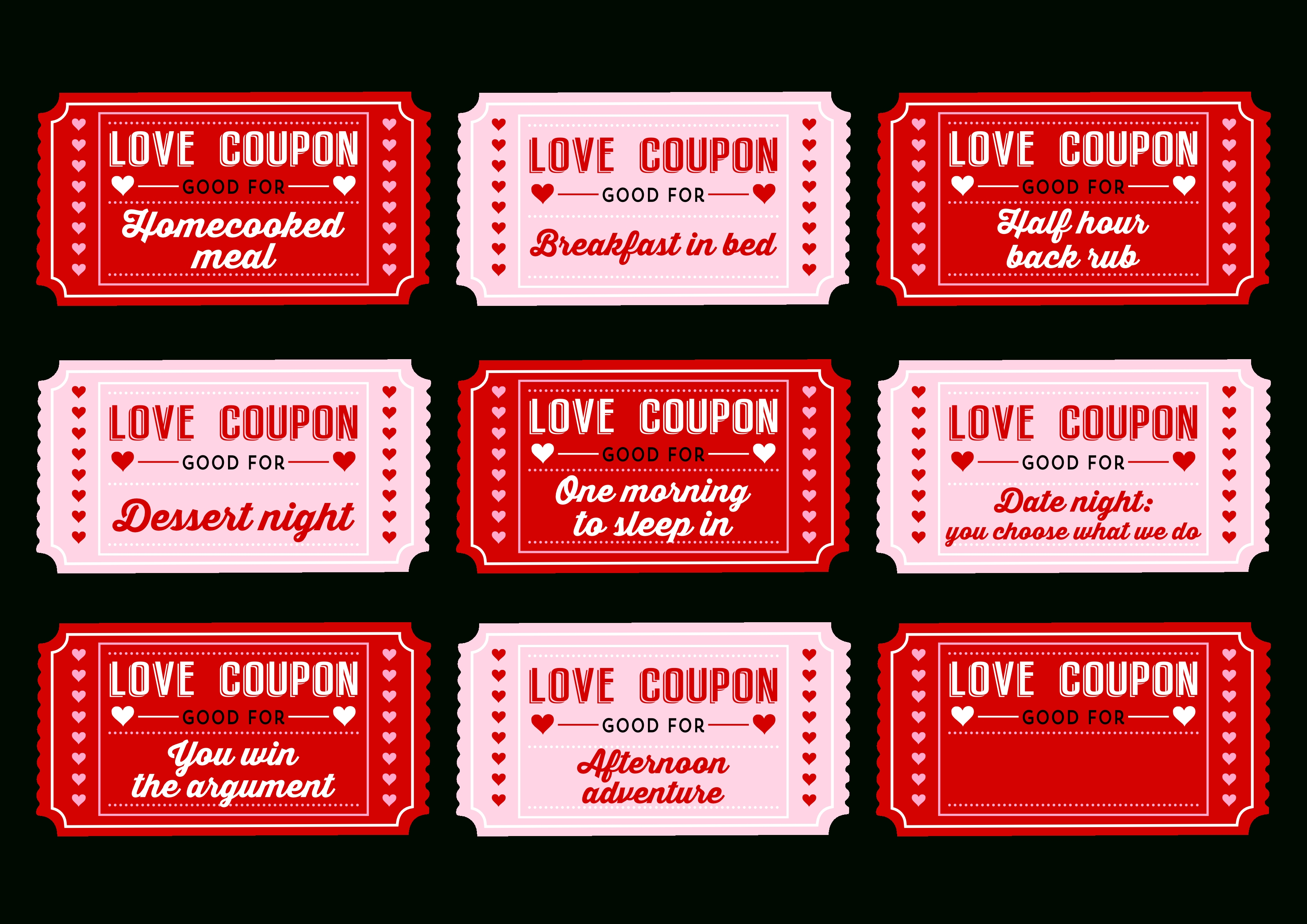 10 Stylish Love Coupon Ideas For Her free printable love coupons for couples on valentines day catch 2 2021
