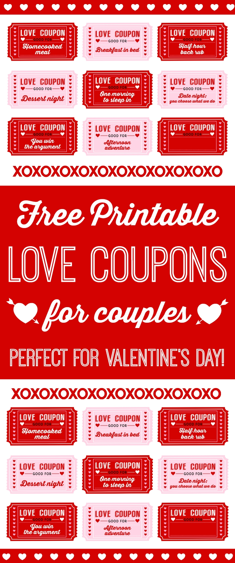10 stylish cute coupon ideas for boyfriend free printable love coupons for couples on valentines day