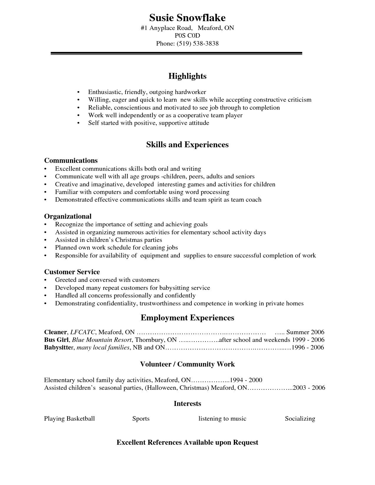 free resume for students free download resume examples high school