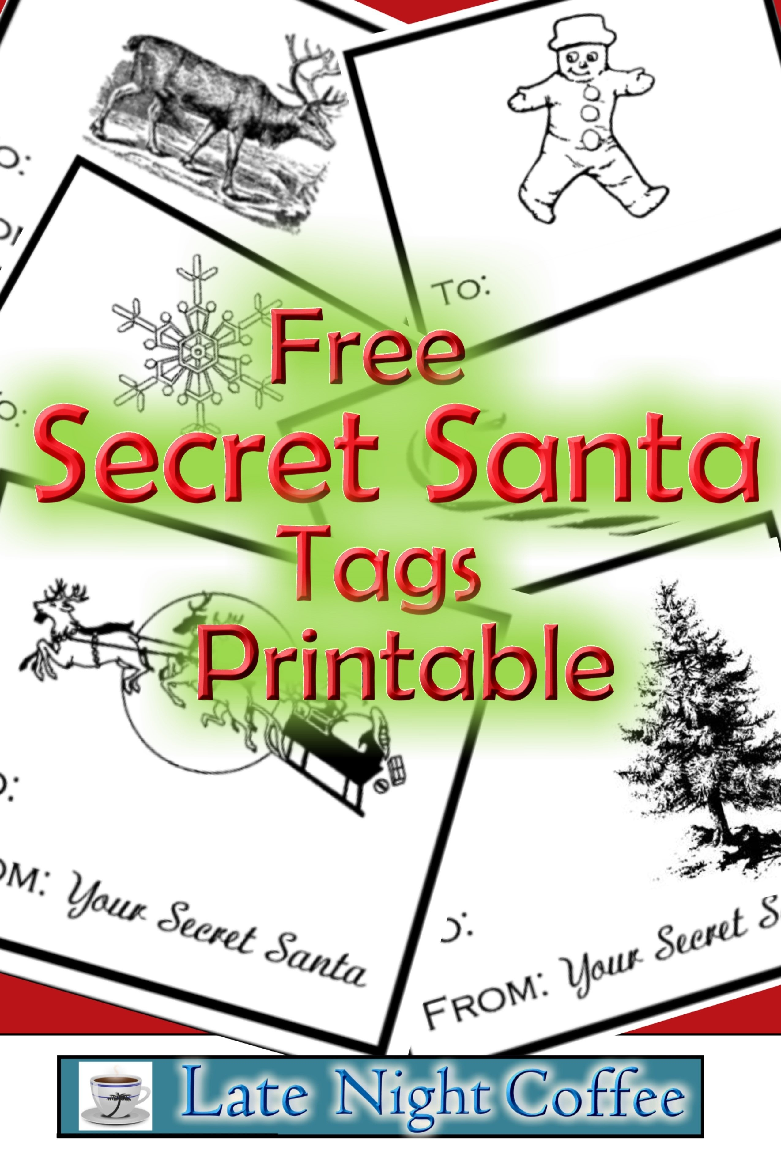 10 Fantastic Secret Santa Ideas For School free secret santa tags printable highschoolherd pinterest 2020