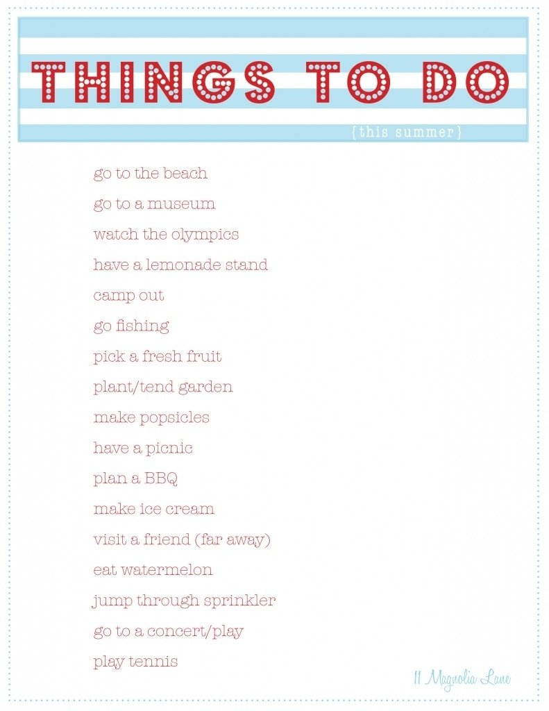 10 Famous Ideas For Things To Do free summer printables things to do party planner 11 magnolia lane 2020