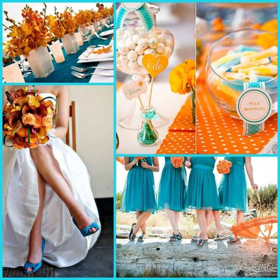 10 Gorgeous Blue And Orange Wedding Ideas free wedding planning guide with burnt orange and orange color 1 2021