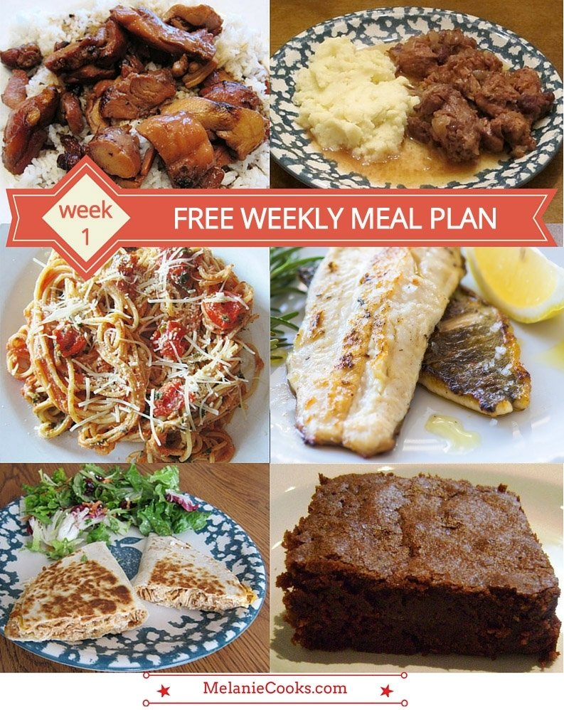 free weekly meal plan – family dinner menu ideas (week 1) – melanie