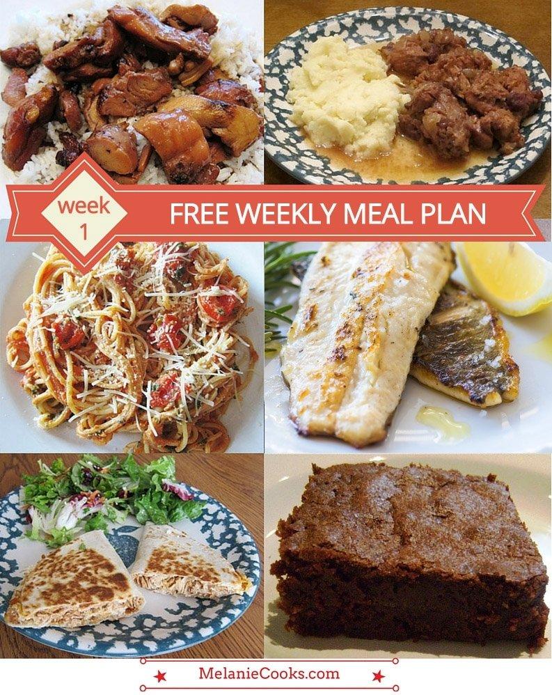 10 Stylish Dinner Ideas For The Week free weekly meal plan family dinner menu ideas week 1 melanie