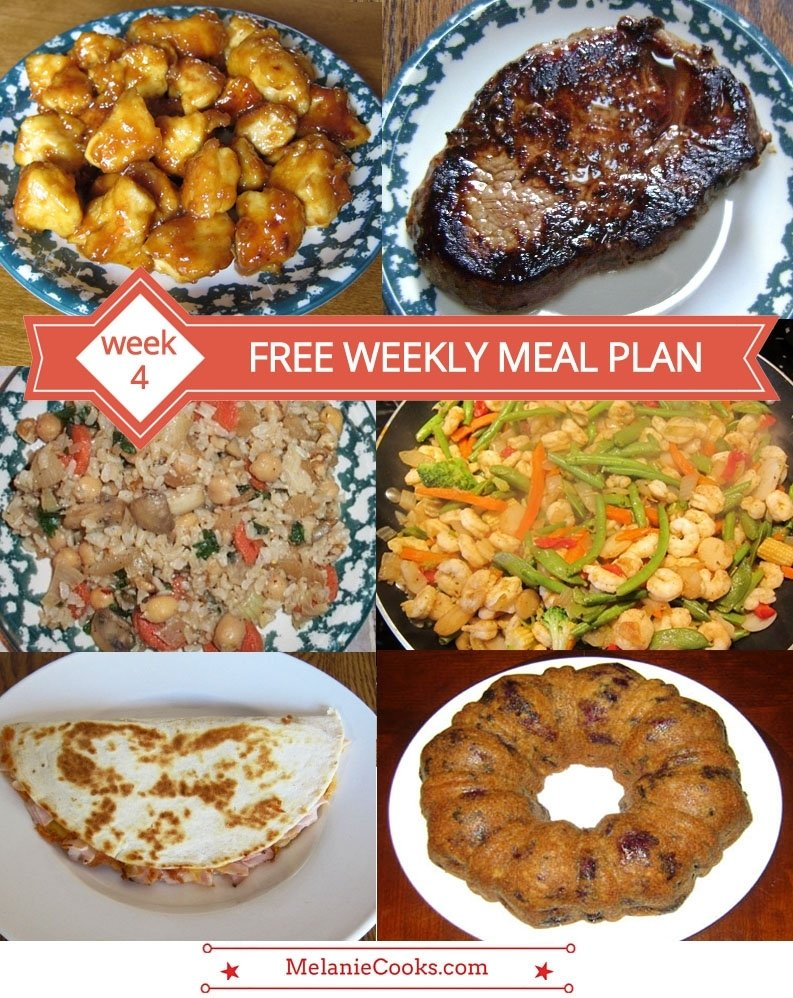 10 Fashionable Meal Ideas For Family Of 4 free weekly meal plan family dinner menu ideas week 4 melanie 2020