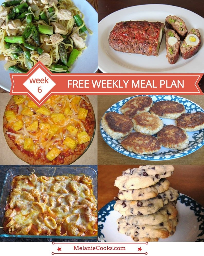free weekly meal plan – family dinner menu ideas (week 6) – melanie