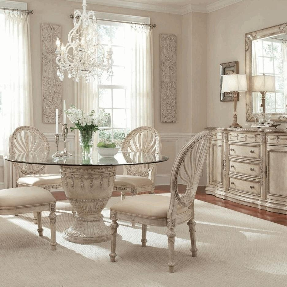 10 Perfect French Country Dining Room Ideas french country dining table white wooden glass frame window single 2021