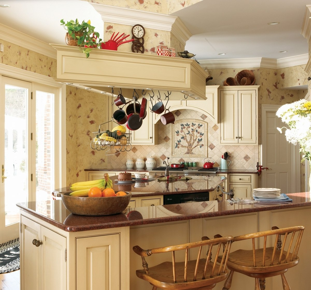 10 Most Popular Country Kitchen Decorating Ideas On A Budget french kitchen decorating ideas with rattan chairs 1323 2020