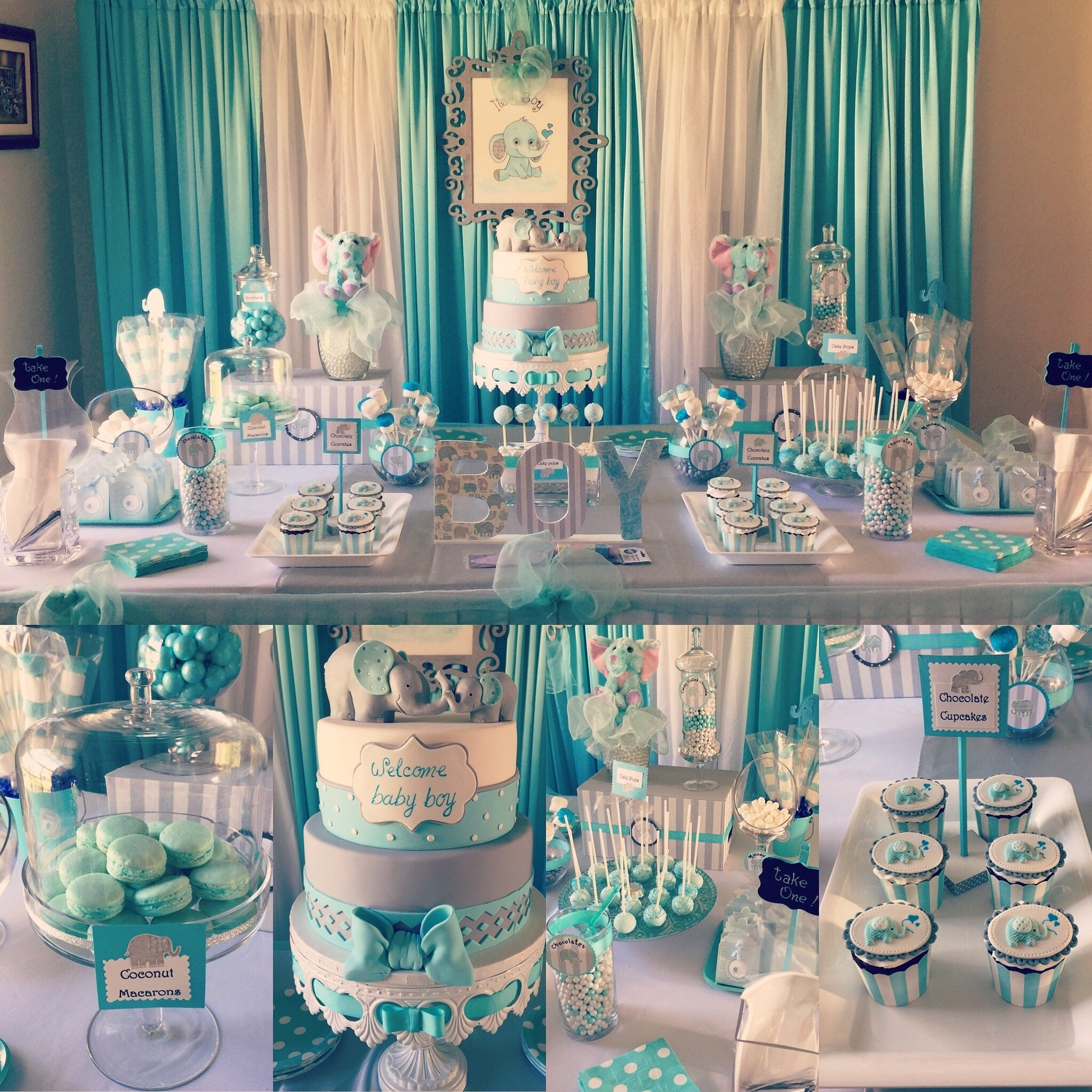 10 Ideal Ideas For A Baby Boy Shower fresh ideas baby boy shower decorations lovely elephant theme party 1 2021