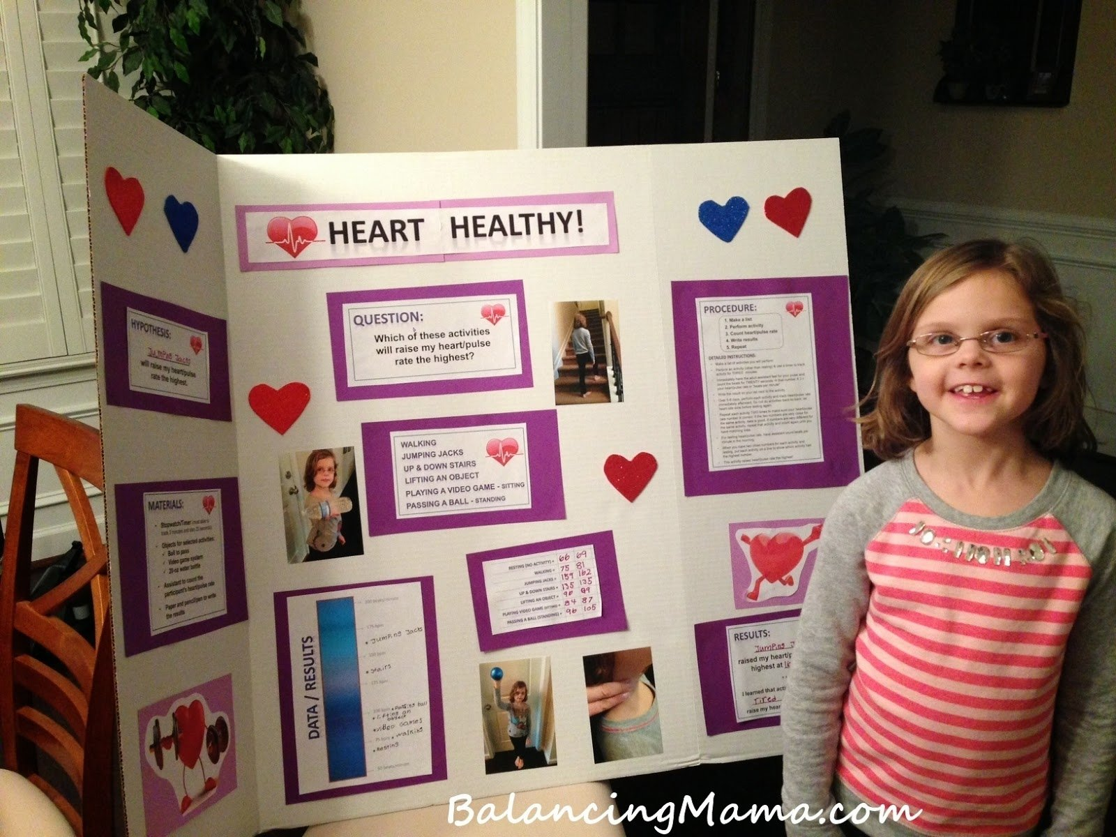 10 Spectacular 1St Grade Science Fair Ideas from balancingmama exercise and heart rate a first grade science 2020