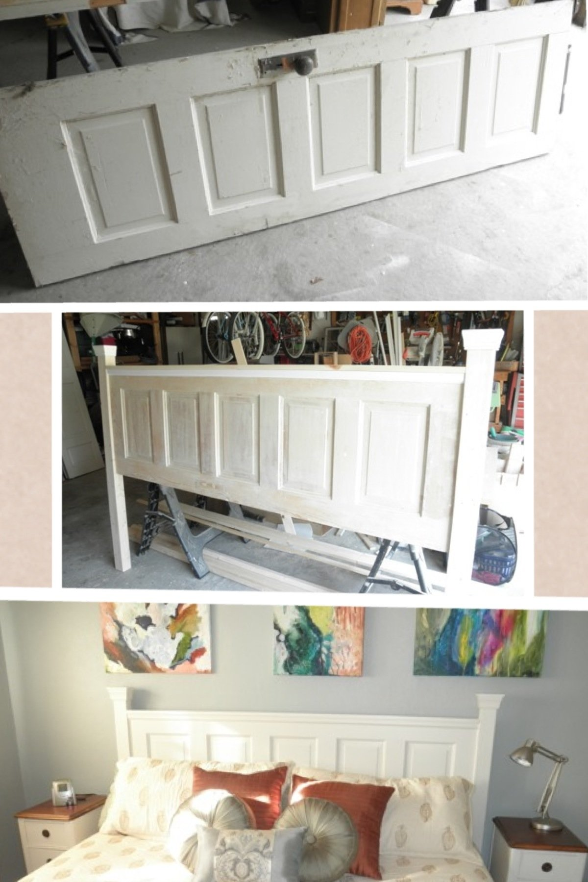 10 Amazing Diy Headboard Ideas For King Beds from old door to beautiful king sized headboard florida 2020