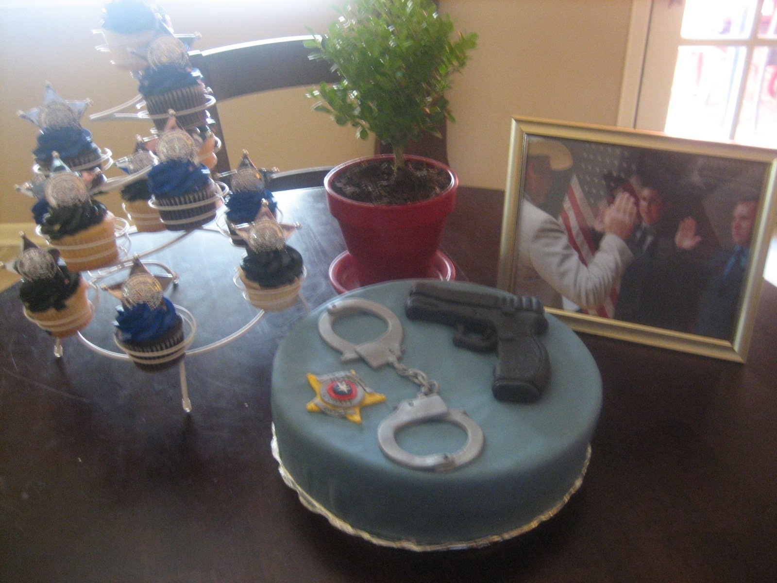 10 Beautiful Police Academy Graduation Party Ideas from our house with love a police academy graduation party