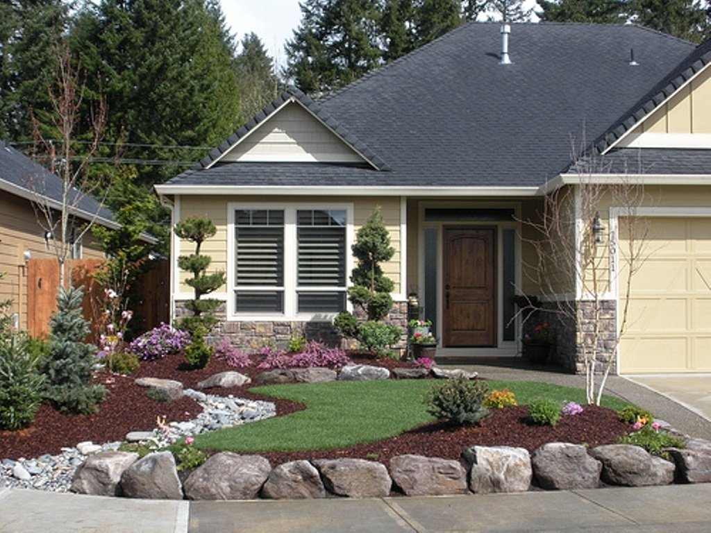 10 Fashionable Landscape Ideas Front Of House front house landscaping ideas rukle awesome home landscape designs 1