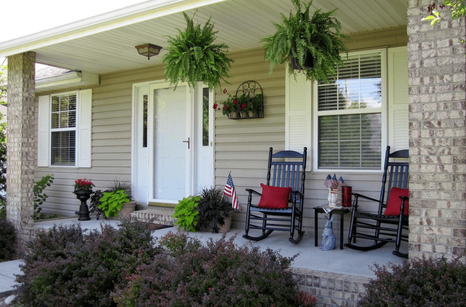 10 Elegant Small Front Porch Decorating Ideas front porch decorating ideas 2021