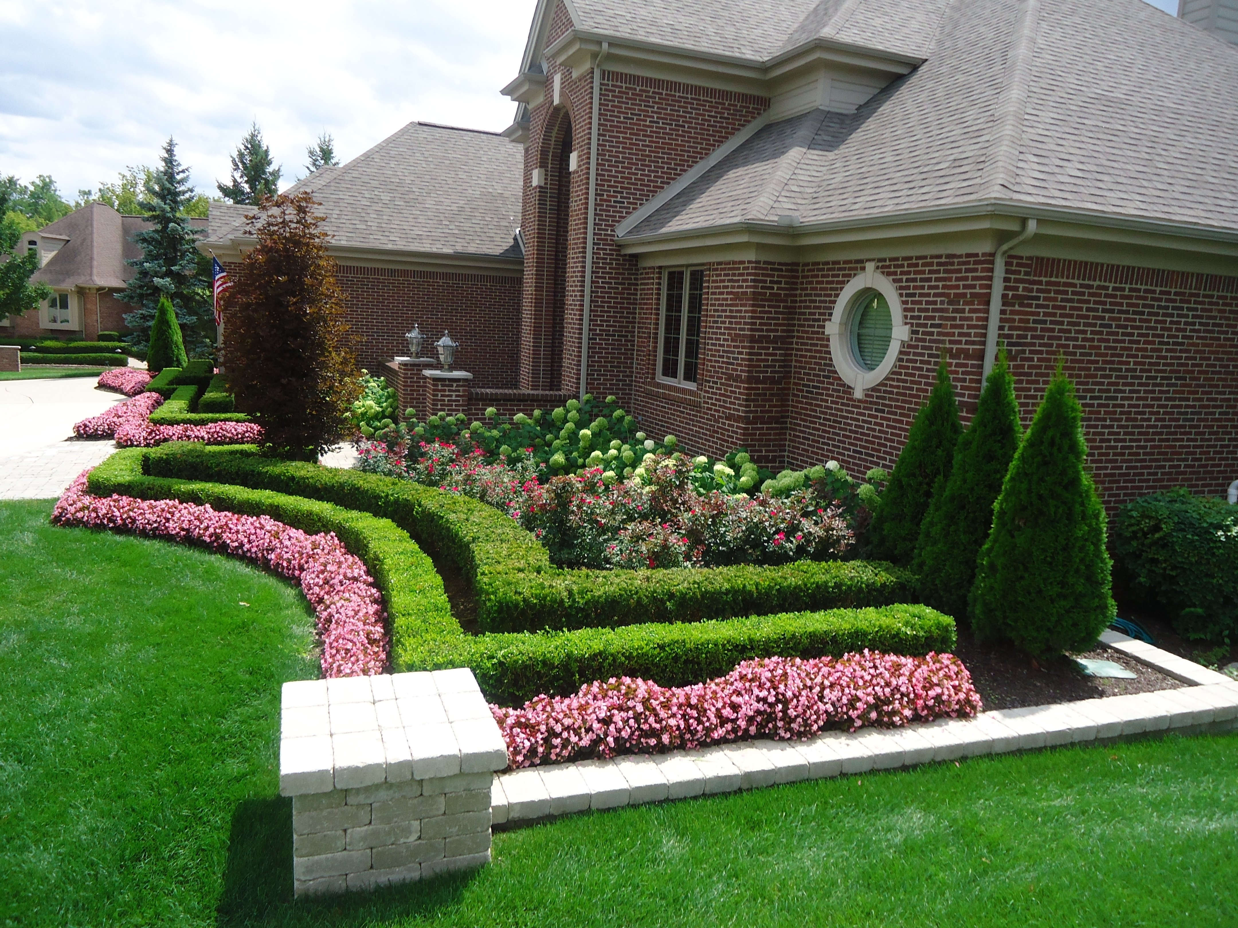 front yard landscape design ideas landscape curb appeal throughout