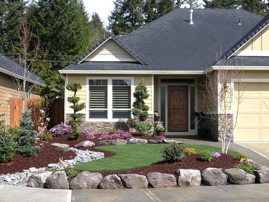 10 Unique Cheap Front Yard Landscaping Ideas front yard landscaping ideas for ranch style homes pictures 2021