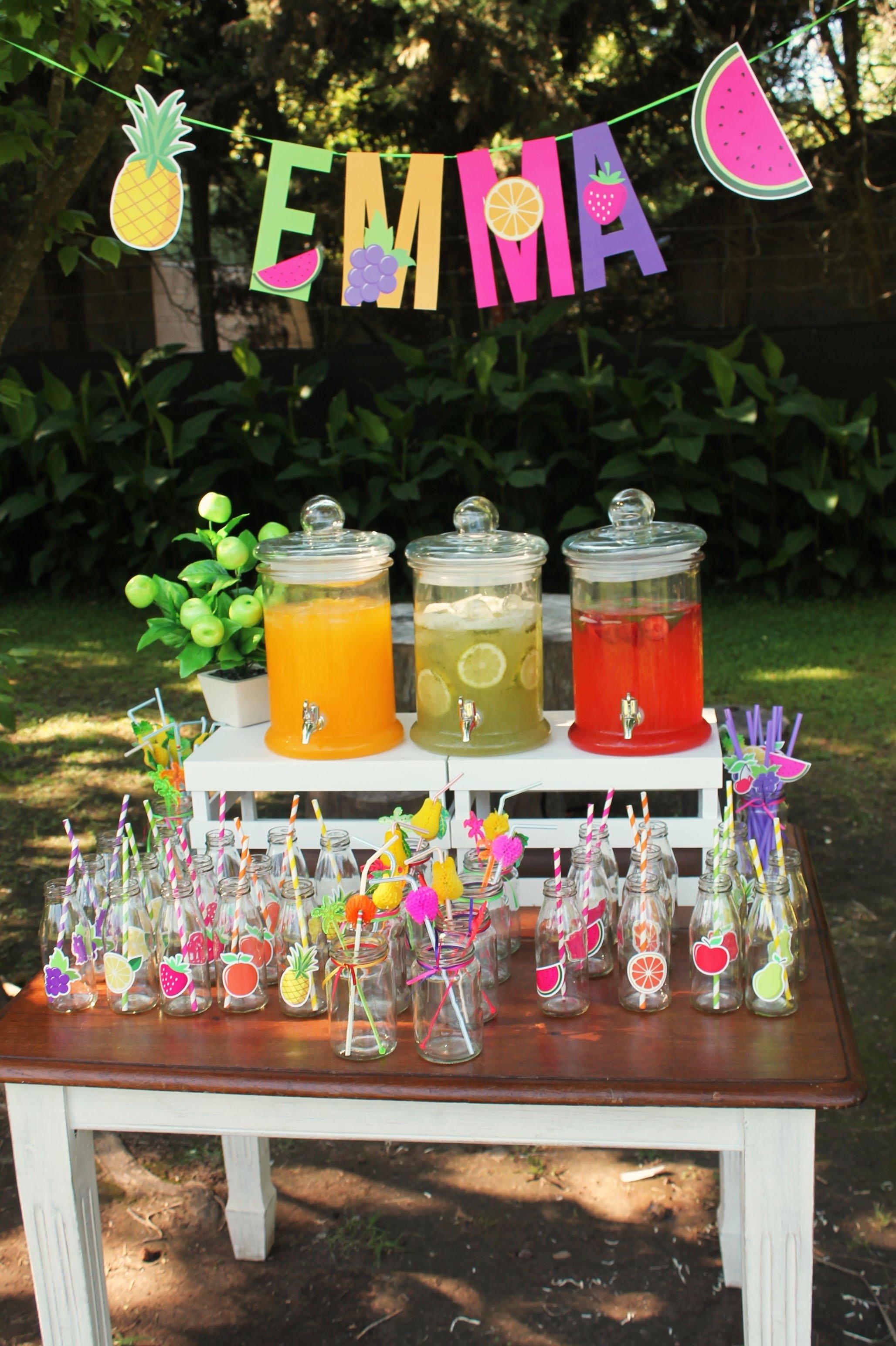 10 Wonderful Fun 13Th Birthday Party Ideas fruit decal on glass jars twotti fruitti 2 kenlys 2nd birthday