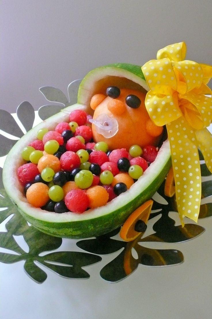 10 Beautiful Fruit Ideas For Baby Shower fruit trays for baby shower baby in stroller fruit tray baby 2020