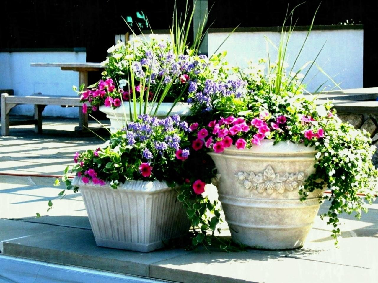 10 Nice Flower Pot Ideas For Patio full size of outside planters ideas patio flower pots planting great 2020