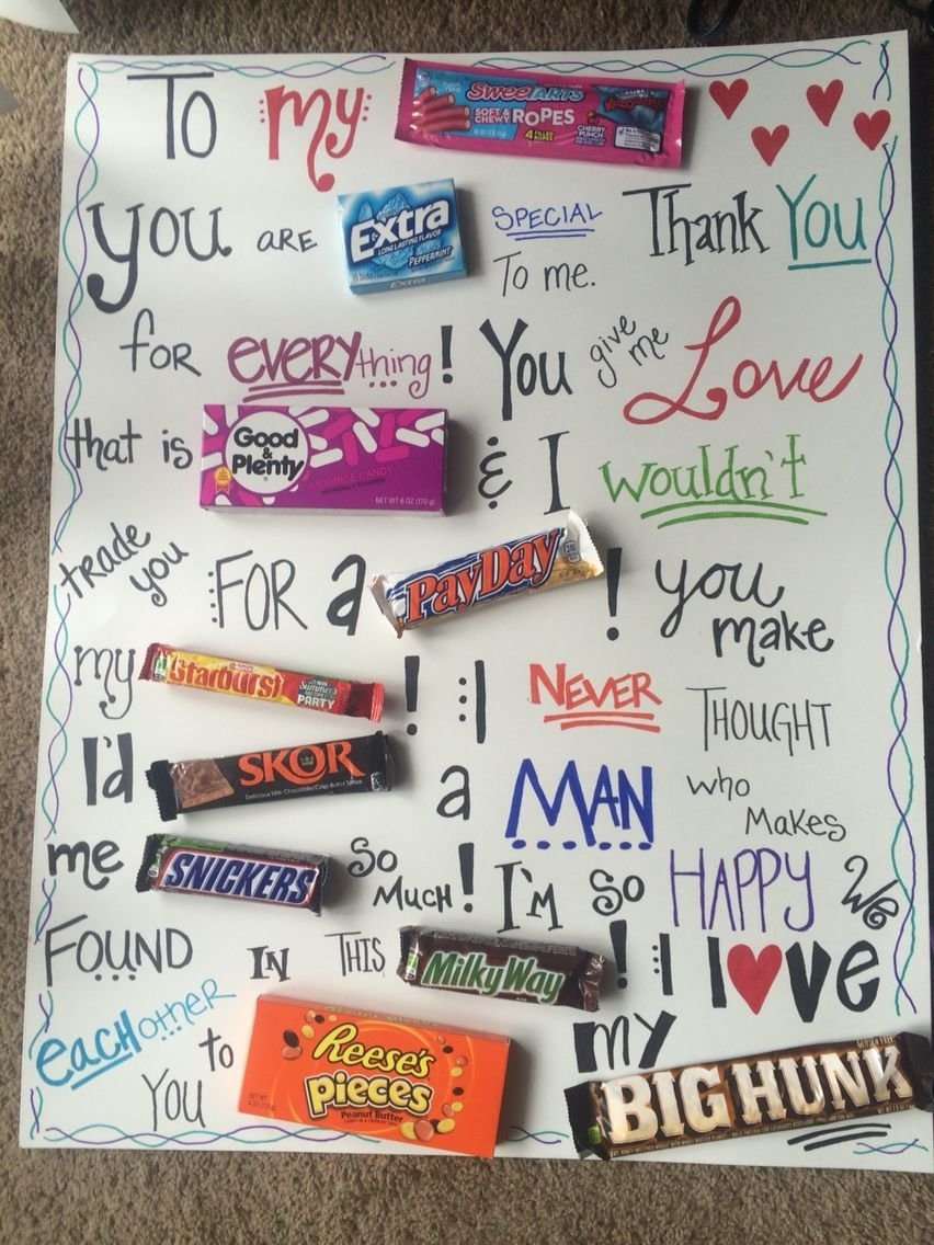 fun and sweet candy board i made for my boyfriend for our
