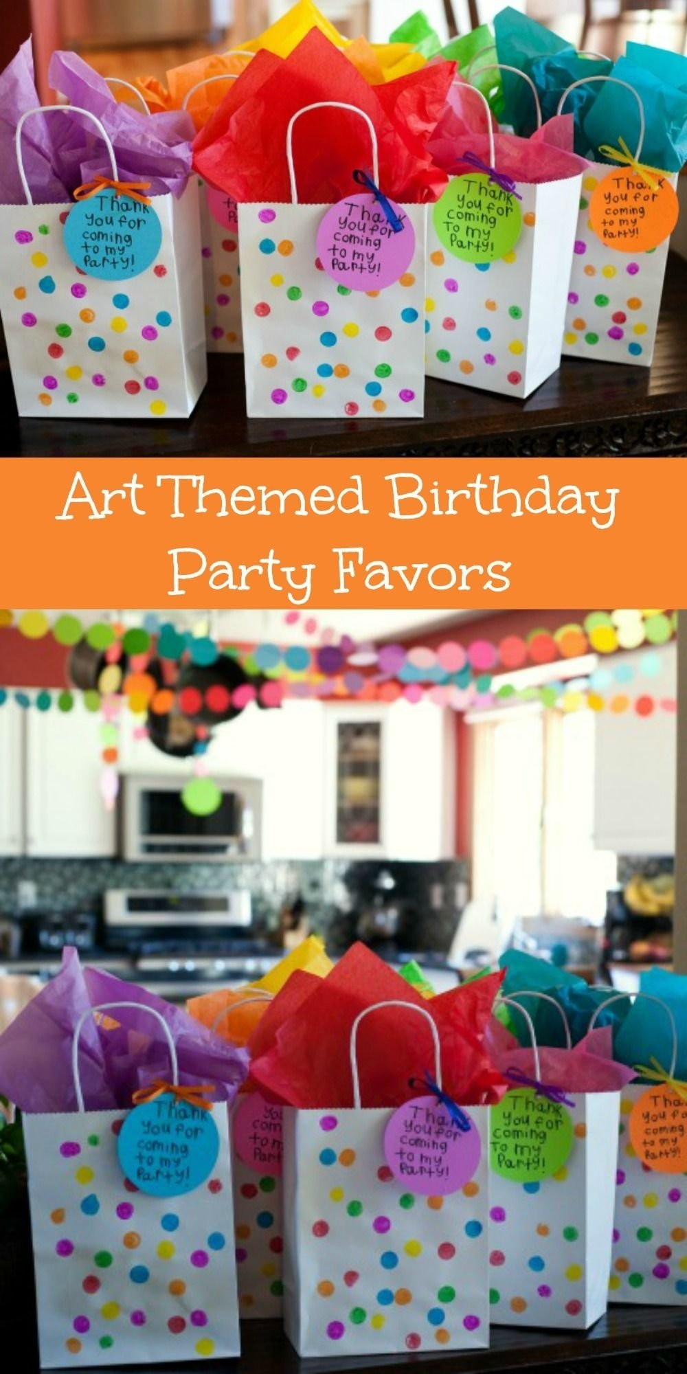 fun and, usable art themed birthday party favors | themed birthday