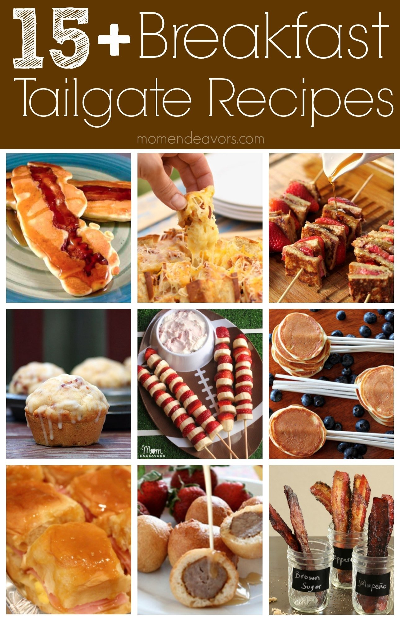 fun breakfast tailgate recipe ideas {college football tailgate party}