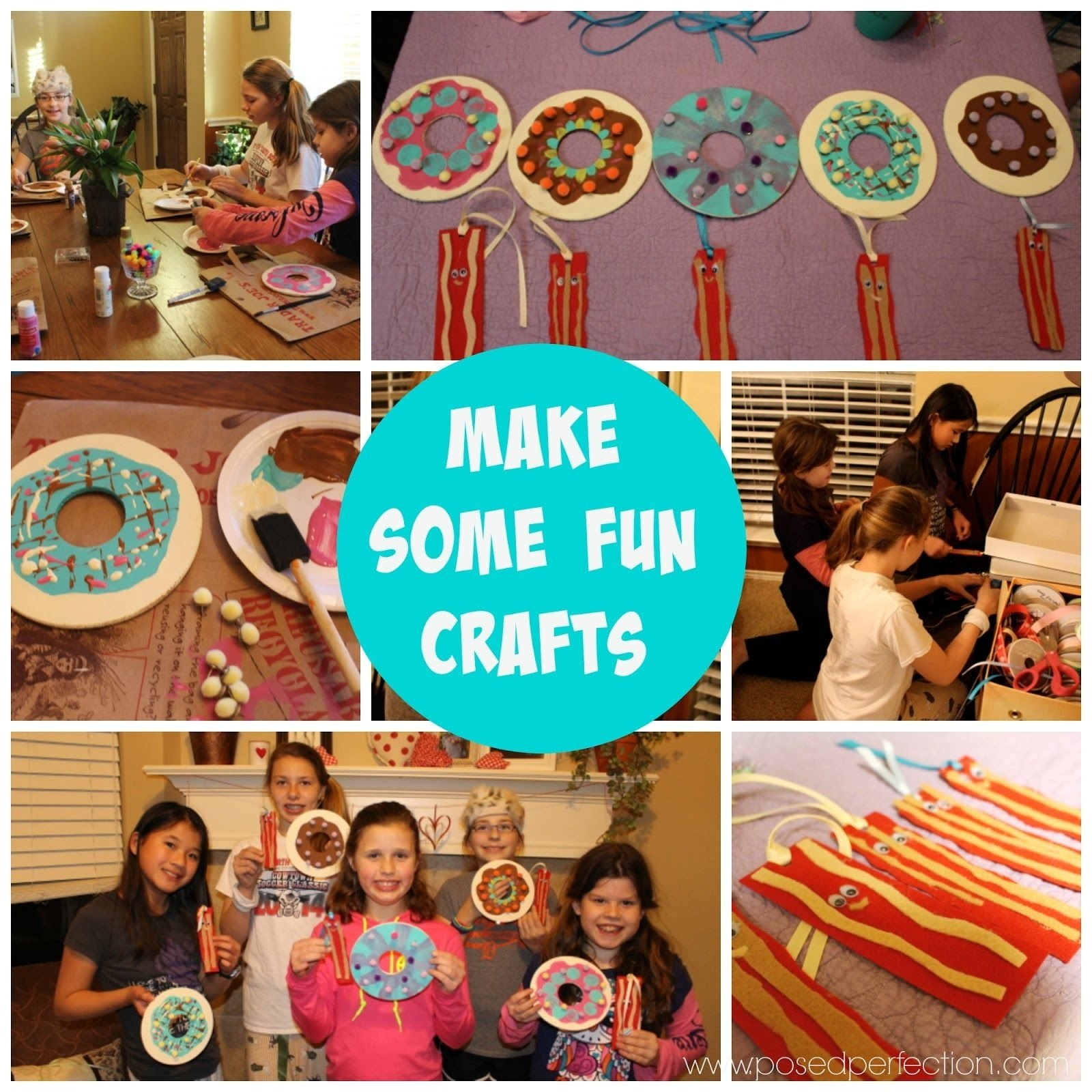 10 Most Popular Slumber Party Ideas For Tweens fun crafts for a tween un slumber party donut memo boards and