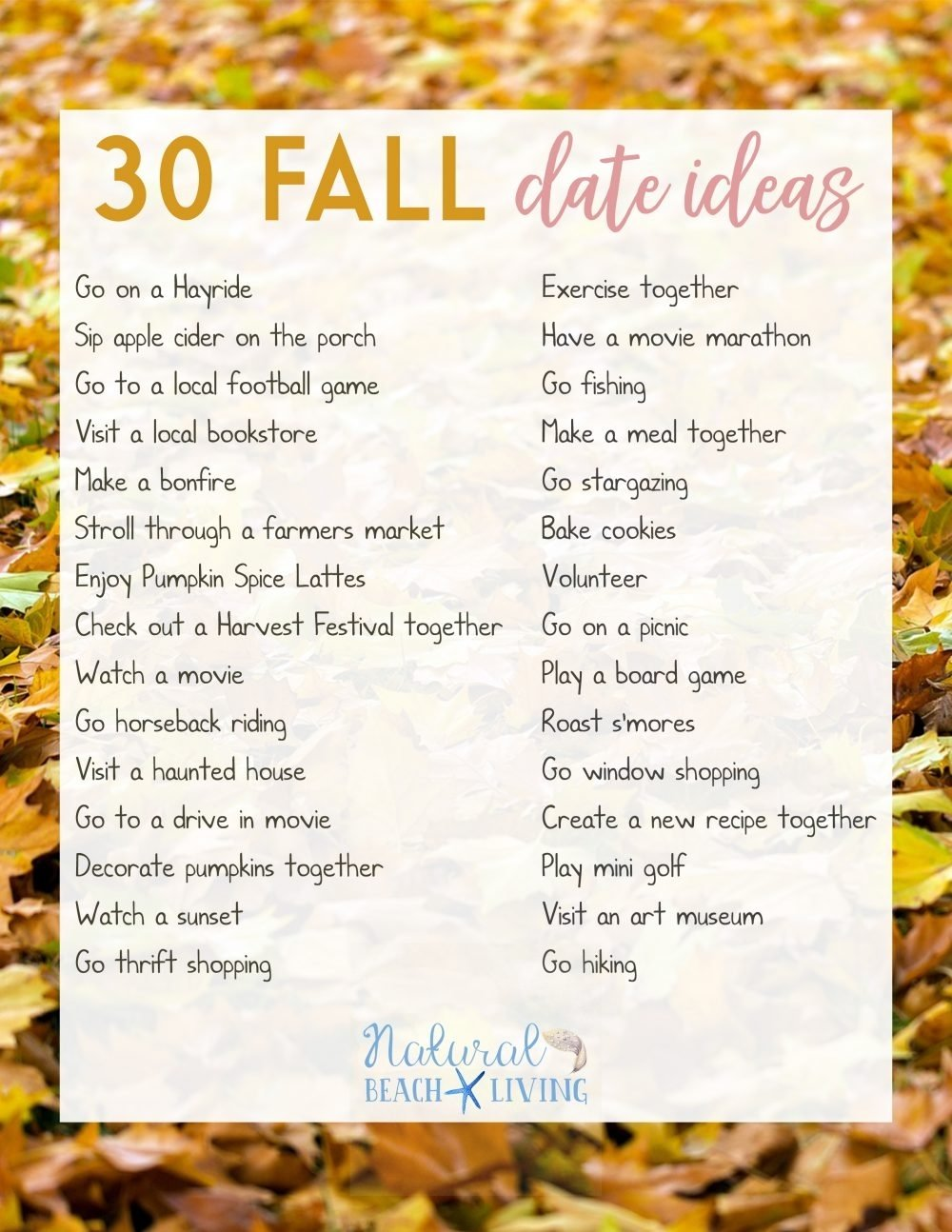 10 Cute Cheap Date Ideas For Married Couples fun date night ideas for fall natural beach living 14