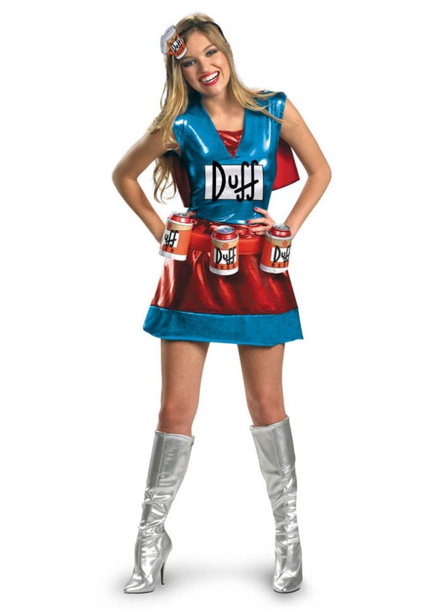 10 Famous Funny Costume Ideas For Women fun duffwoman costume deluxe ladies duffman costume funny 1 2021