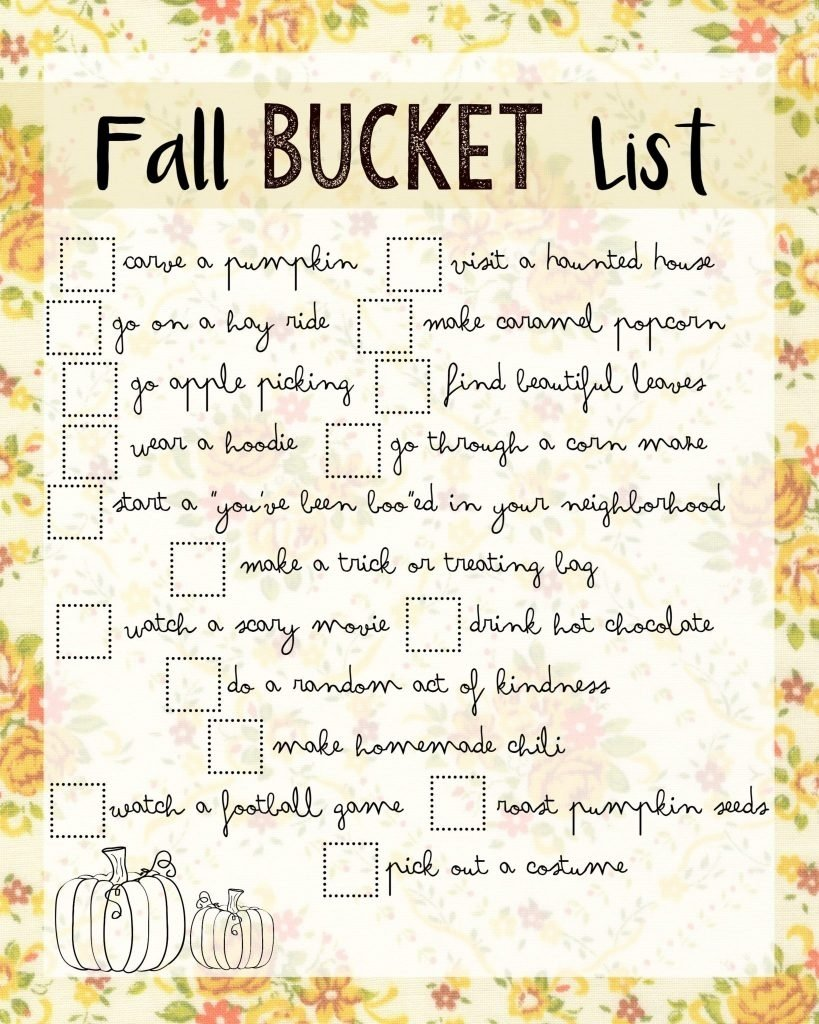 fun fall bucket list ideas | all things thrifty