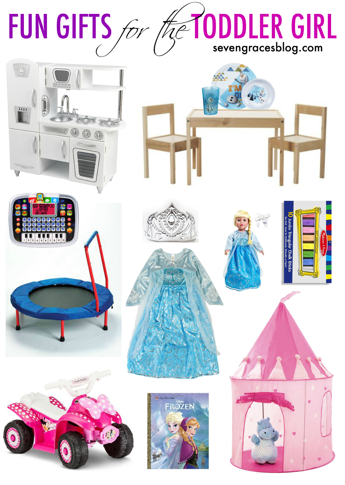 fun gifts for the toddler girl | seven graces blog posts | toddler