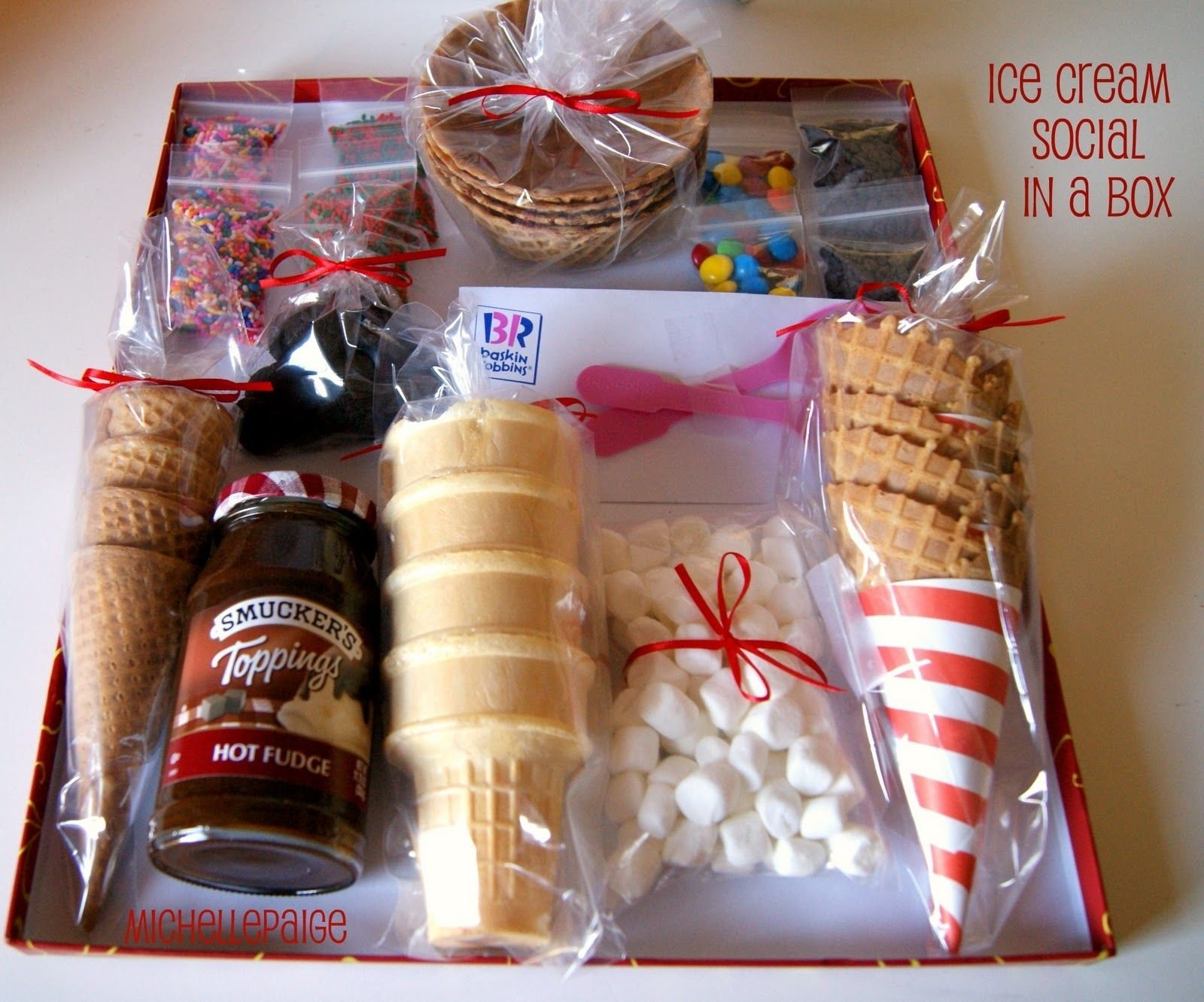 10 Trendy Ice Cream Gift Basket Ideas fun idea for a b day gift or anniversary homemade gifts 2020