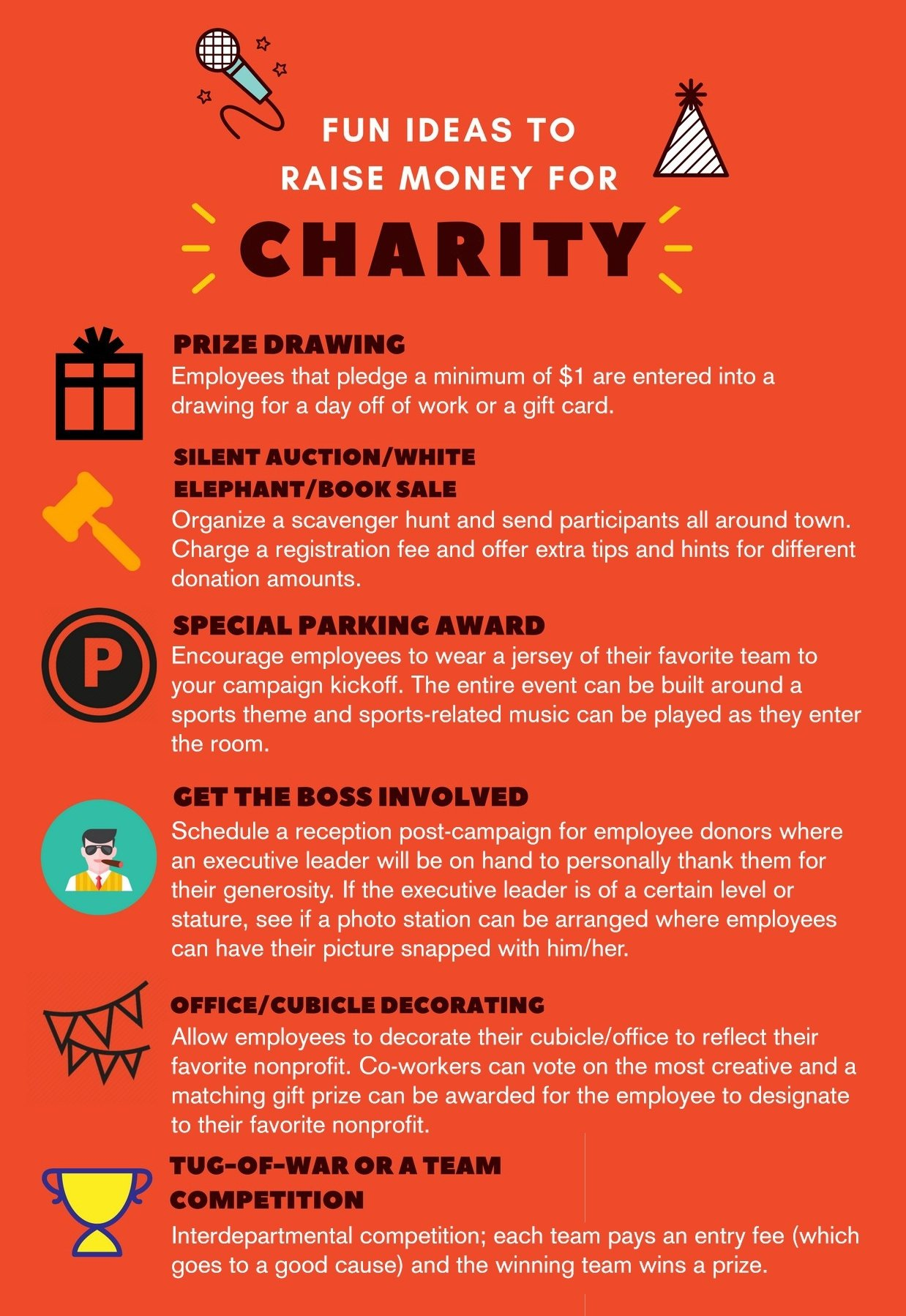 10 Attractive Fun Fundraising Ideas For Work fun ideas for engaging employees and raising money for charity 2