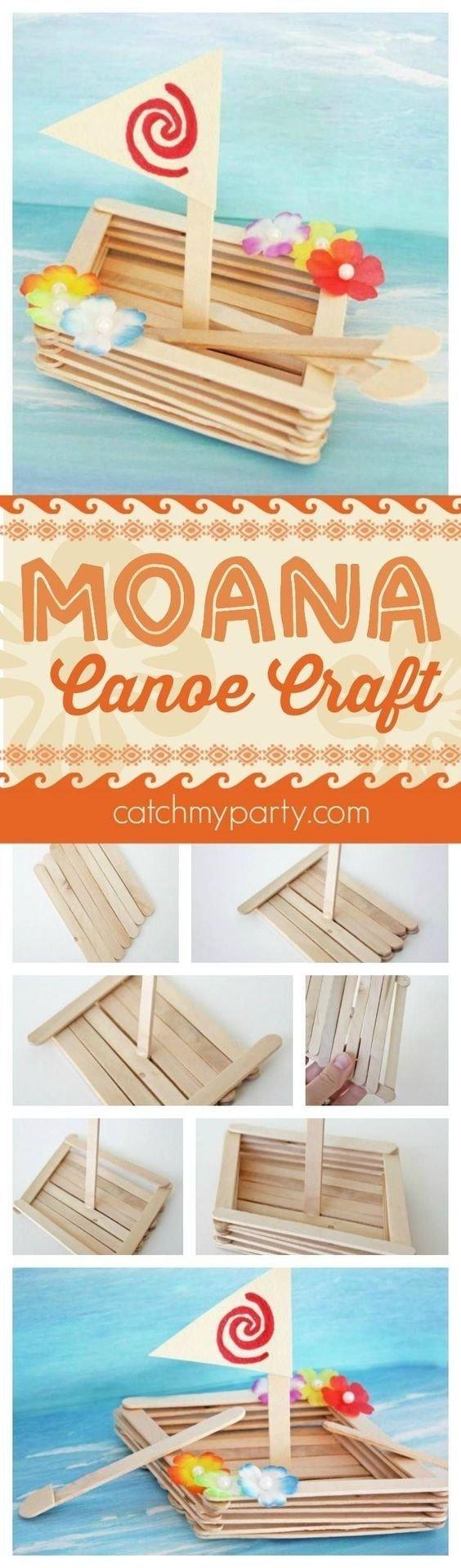 10 Most Popular Rainy Day Birthday Party Ideas fun moana canoe craft perfect for a moana birthday party activity 2021