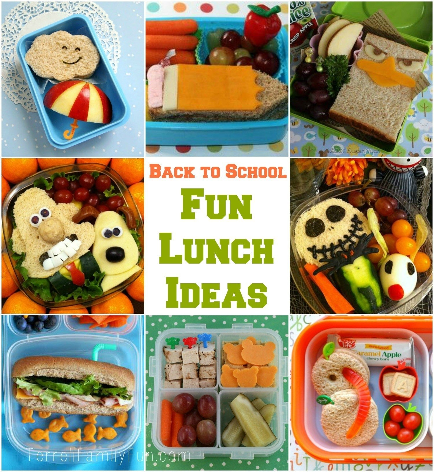 fun school lunch ideas for kids and back to school