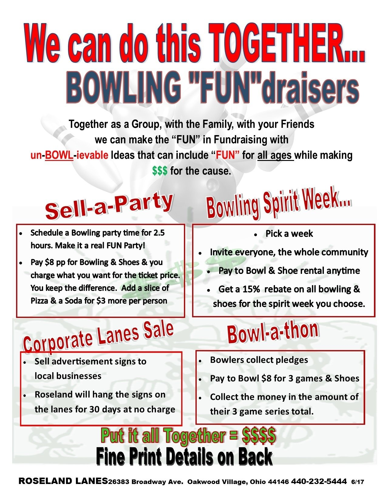 10 Amazing Easy Fundraising Ideas For Sports Teams fund raisers fundraising ideas roseland lanes cleveland oh 4 2020