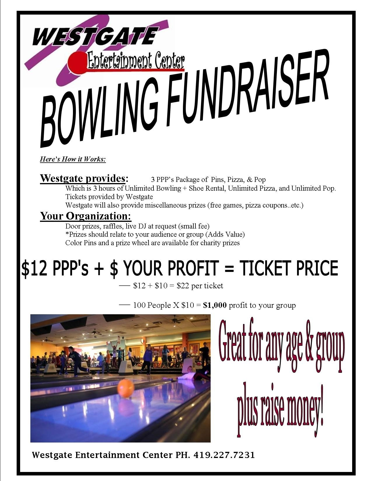 fundraiser | fund raising ideas | westgate entertainment center | lima