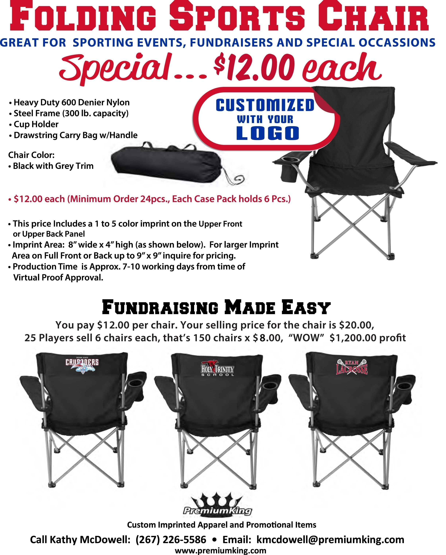 10 Cute Fundraising Ideas For Baseball Teams fundraiser idea folding sports chairs with team logo fundraising 2 2020