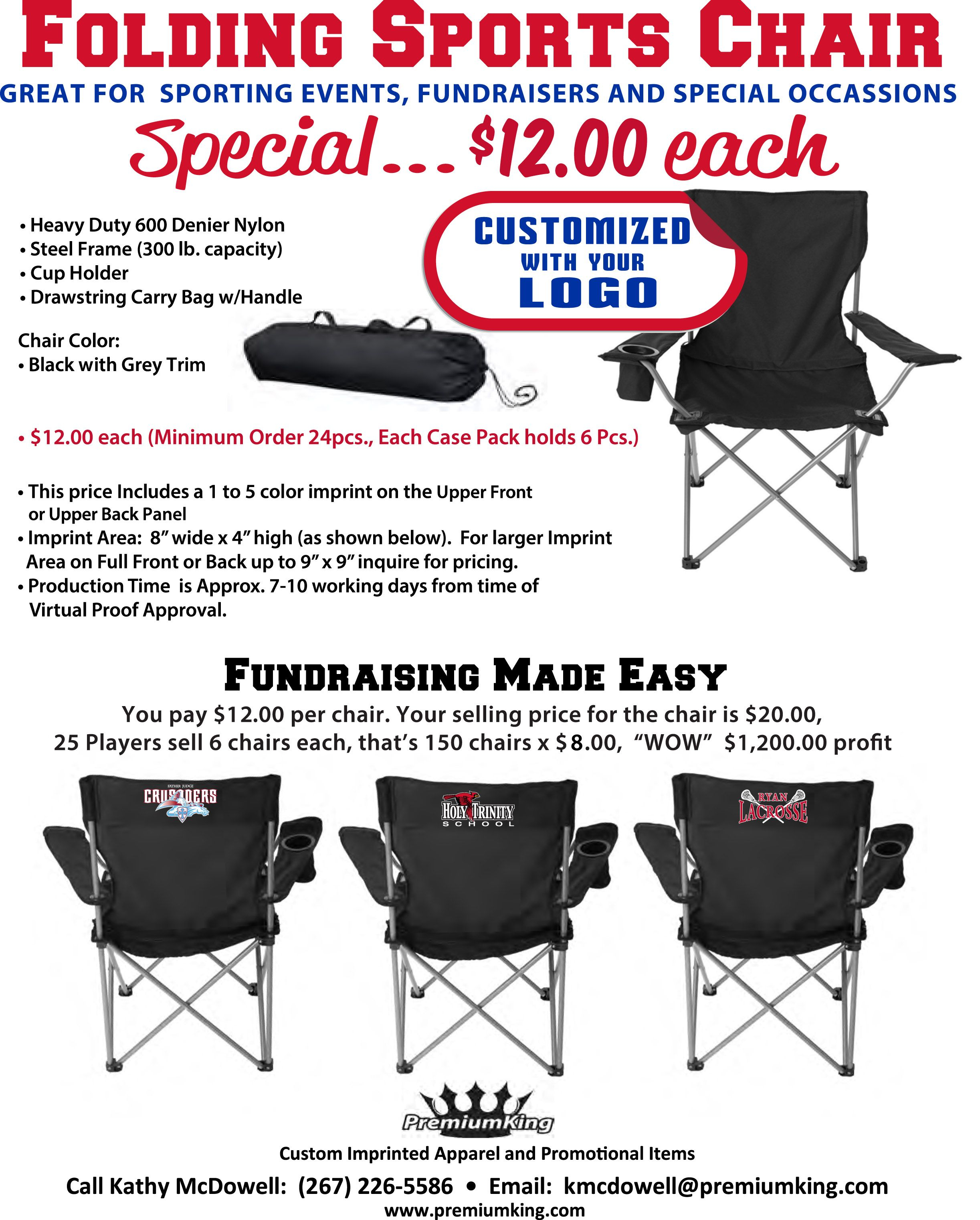 10 Beautiful Best Fundraising Ideas For Youth Sports Teams fundraiser idea folding sports chairs with team logo fundraising 5
